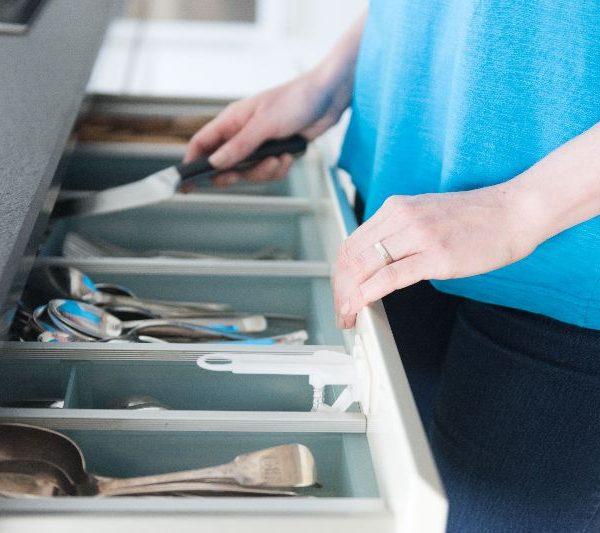Adhesive Top Drawer Lock.