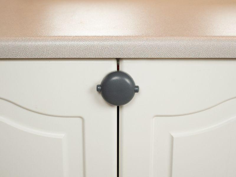 Adhesive Double cabinet door lock.